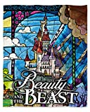 Northwest Disney Beauty and The Beast Stained Glass Enchanted Castle Silk Touch Throw Blanket 50' x60' (127cm x 152cm)