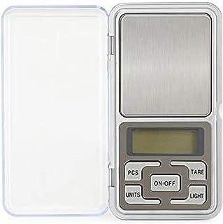 ZCY Básculas electrónicas para el hogar Báscula de joyería de Alta precisión Mini Bolsillo Llamado Básculas de Palma portátiles 0.01G - Plata - 200g / 0.01g