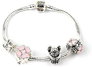 Liberty Charms 'Be Lucky!' Silver Plated Charm Bracelet