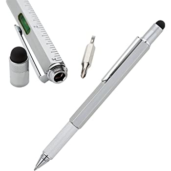 5 in 1 Engineer Ballpoint with Stylus in Tin Box