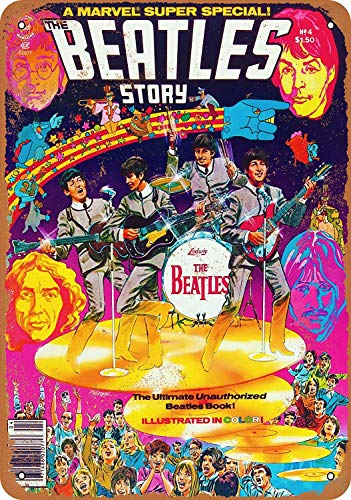 Supsum 1978 Beatles Comic Book Retro-Mode-Wand-Dekor-Hauptkunst-Plakat anwendbar auf Garage Bar Restaurant