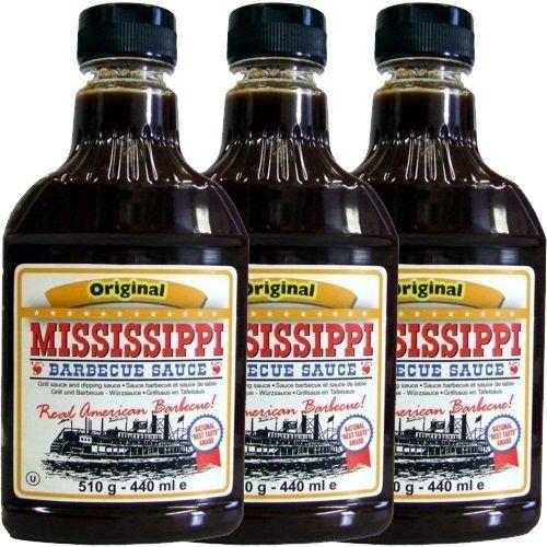 Mississippi Barbecue Sauce 'Original' 3 x 440ml (Grill-Sauce)
