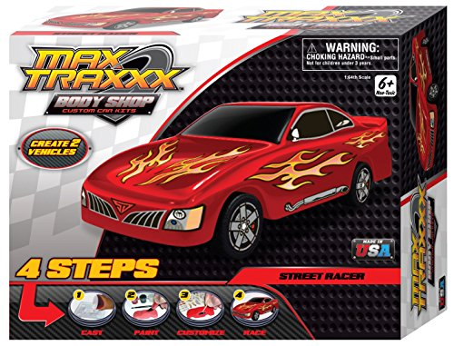 Max Traxxx Award Winning Body Shop PerfectCast Street Racer Car Cast, Paint and Play Craft Kit