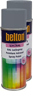 Kwasny 2X Belton Spectral RAL Lackspray Lack Spray Spraylack Telegrau 2 RAL 7046 400 Ml