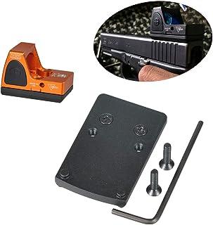LONJN Glock RMR Mount - Glock Mounting Plate for Trijicon RMR Red Dot Sight fits Glock 17 19