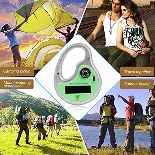 LtrottedJ Portable Solar Powered Sonic Mosquito Insect Repeller with Compass