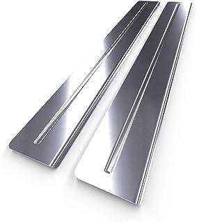 brillo Protector de acero para el borde de la tapa del maletero 5902538647274 plata