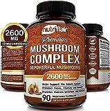 NutriFlair Mushroom Supplement 2600mg - 90...