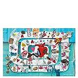 Laroom Alfombra Vinílica Infantil Diseño Laberinto, Vinilo Antiliscante, Multicolor, 133x200 cm