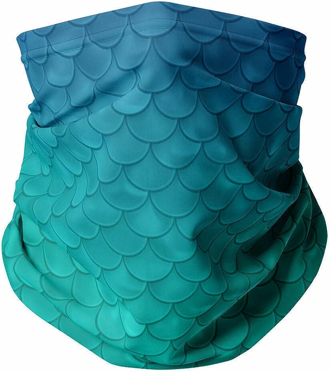 Neck Gaiter Face Covering - Ariel Mermaid Inspired