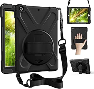 ZenRich iPad Air 1 case, iPad 9.7 Case 2013, 360 Rotating Kickstand Hand Strap & Shoulder Belt zenrich Shockproof Heavy Du...
