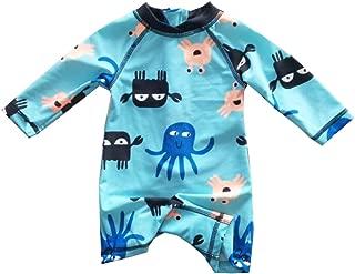 eKooBee Infant Baby Boys Sunsuits Rash Guard Swimsuit Swimwear UPF 50+ Sun Protection Aqua