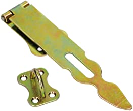 KOTARBAU® Overval 200 mm veiligheidsoverval verzinkt voorziening hangslot sluiting staal geel deurbeslag deurbeslag overva...