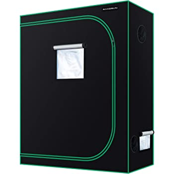MAXSISUN 4x2 Grow Tent 600D Mylar Hydroponic Indoor Plants Growing Tent with Observation Window and Floor Tray 48x24x60 Grow Cabinet for 4 Plants