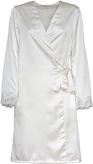 Toscana Lingerie Vestaglia Kimono per Sposa Fede Raso - Taglie Forti R443