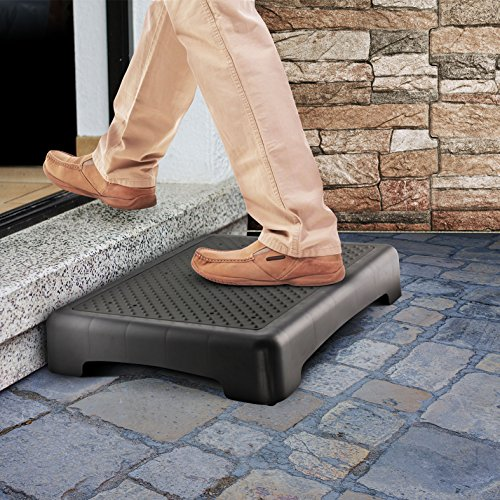 Kovot Indoor & Outdoor Mobility Step | Measure 17.5' L x 13.5' W x 3.5' H & Lightweight | Great for Seniors, Toddlers, Pets and More (Standard Ribbed Grip)