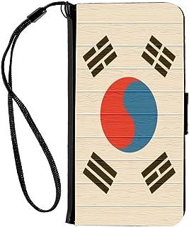 Rikki Knight - Funda con Tapa para iPhone 6 y 6S, diseño de Bandera de Benín en Madera Envejecida, Bhutan, Bandera en Madera deteriorada, Madera (Bhutan Flag on Distressed Wood)