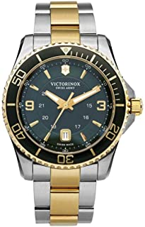 Victorinox Swiss Army Mens Quartz Watch, Analog Display and Stainless Steel Strap - 241605