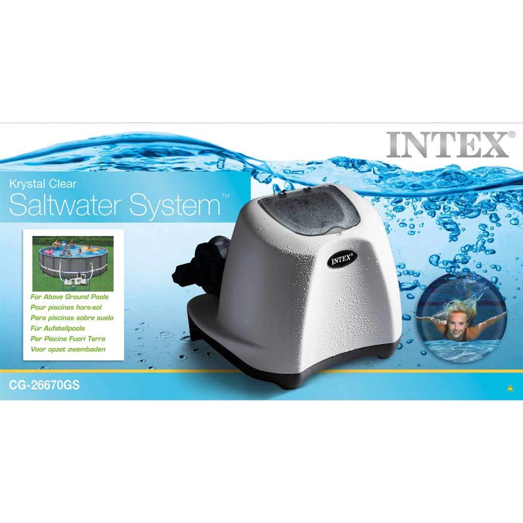 Intex Sistema de cloración salina Krystal Clear ECO 28670GS ...