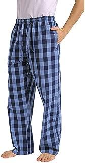 YAYUMI Men's Casual Plaid Printed Loose Sport Pajama Pants Trousers Home Pants Long Pants