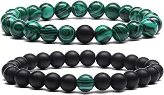 MengPa Lava Rock Bracelet Yoga Aromatherapy Anxiety Essential Oil Volcanic Stone Bead Bangle for Women Men