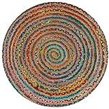 SIGNES DECORA Alfombra Mandala Multicolor 120X120