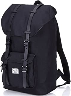 Bodachel Travel Backpacks for Men, Water Resistant Hiking Camping Rucksack Pack, Large School Laptop Backpack for College Fits 15.6 Inch, Casual Working Daypack Bag - Black