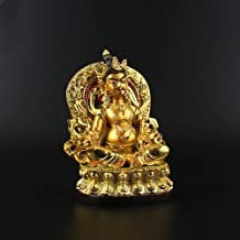 ZGPTX Huang Caisong Tibetan Zong Gold-Plated Yellow Caisse Resin Car Wearing Pieces Tibetan Barra with The Small Buddha St...
