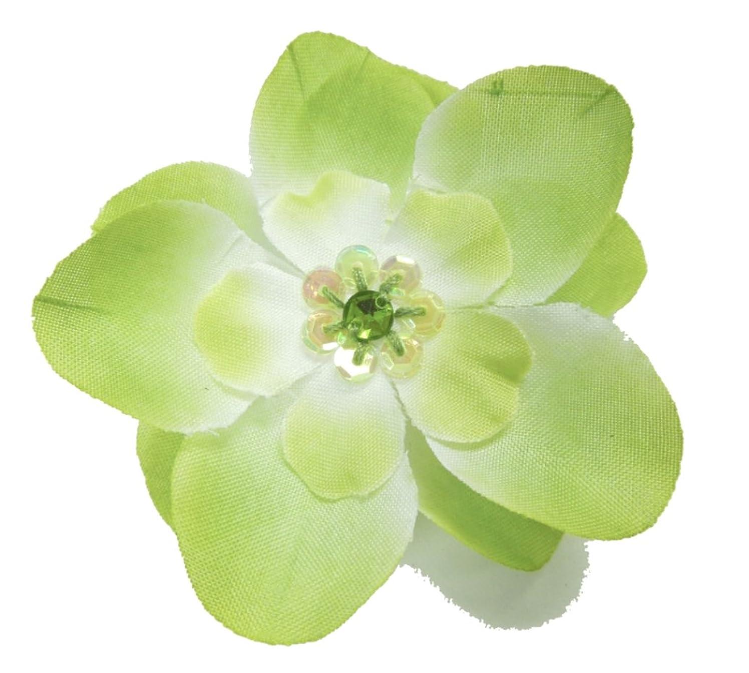 Cuteque International 6-Piece Embellished Flower Sequin Embellishment, Moss Green