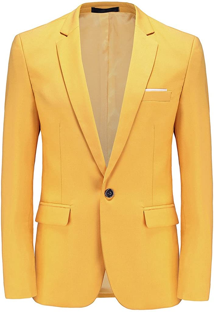 Max 87% OFF Mens Blazer Slim Fit Sport Coats 23 an Business Colors Daily for Max 51% OFF