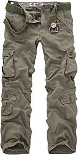Men's Casual Active Military Cargo Camouflage Combat Pants Trousers with 8 Pocket