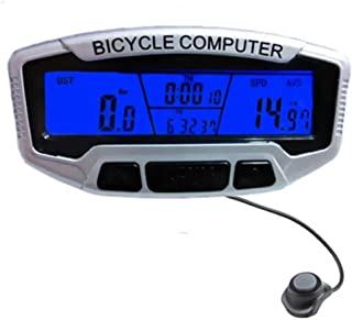 Sannysis cuentakilómetros bicicleta Velocímetro Retroiluminación Ciclismo Moto Speedo odómetro velocímetro + retroiluminación