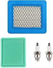 ANTO 2 Pack 796112 Spark Plug + 491588S Air Filters for Champion J19LM, RJ19LM, Briggs & Stratton 802592, 5095K