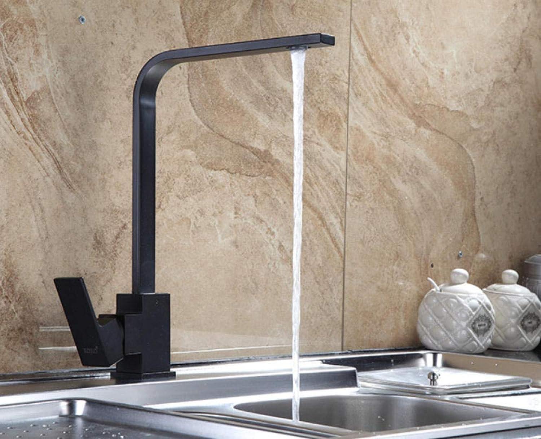 CZOOR Chrom-Finish Küchenarmatur Messing Swivel Küchenspülen Wasserhahn 360-Grad-Drehung Küchenmischbatterie