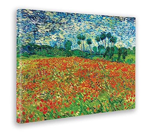 - Quadro - Stampa su Tela Canvas - Vincent Van Gogh - Poppy Field - 100 X 140 Cm