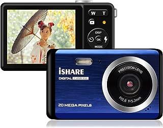 Funcam 子供用デジタルカメラ デジカメ HD 2000万画素 8倍デジタルズーム 2.8インチTFTスクリーン ファッション カメラ 子供用カメラ コンパクト(ブルー)