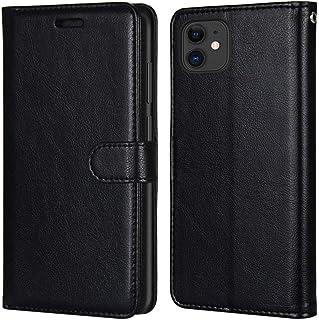 Laybomo Carcasa para Apple iPhone 11 / A2221 Tapa Funda Cuero Estilo-Sencillo Monederos Billetera Bolsa Magnética Protecto...
