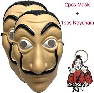 2pcs/lot Money Heist The House of Paper La Casa De Papel Dali Mask Salvador