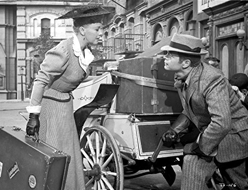 First Traveling Saleslady Man And Woman Facing Each Other Photo Print (30 x 24)