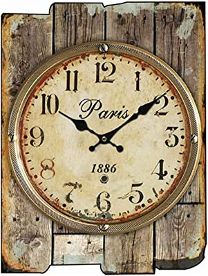 YWYU Creative Clock Rectangle Single-Sided Wood Wall Sticker Wall Clock Without Mirror Silent Movement