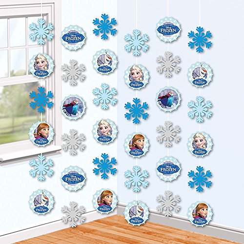 Die Eiskönigin Party Deko Hänger | 6 Stück | Disney Frozen | Zimmer Dekoration
