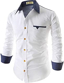 IndoPrimo Men's Regular Fit Casual Shirts