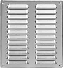 260 x 280 mm roestvrij stalen ventilatierooster met bescherming tegen insecten, afvoerrooster, toevoer, metalen rooster