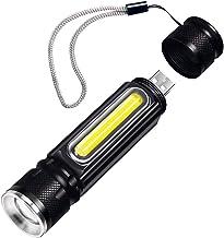 Waterdichte oplaadbare LED-zaklantaarn COB Werklicht Torch 4 Verlichtingsmodi Ondersteuning Zoom gebruikt voor Camping Cyc...