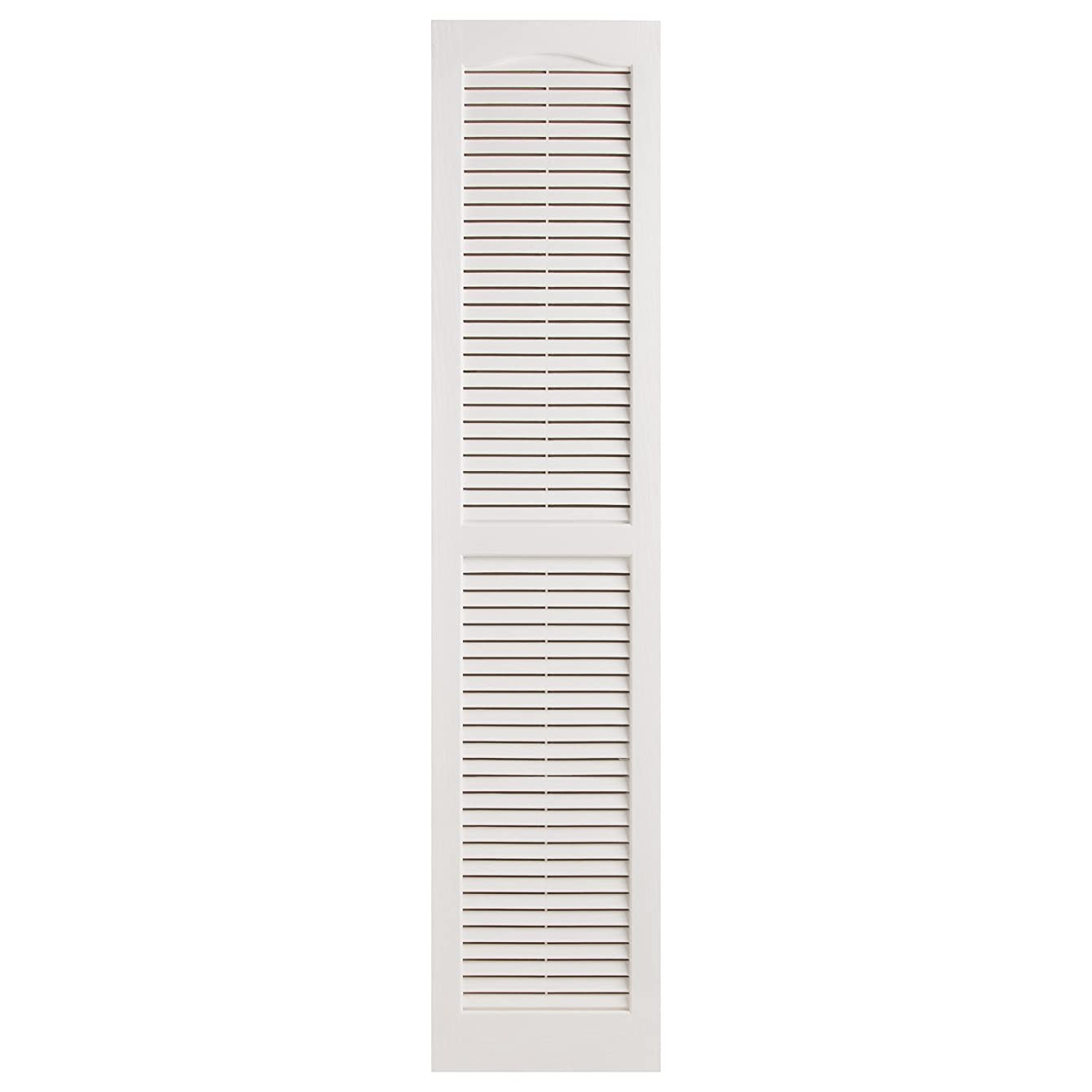 Alpha VNB1559WHOL 14-Inch by 59-Inch Open Louver, White, 2-Pack