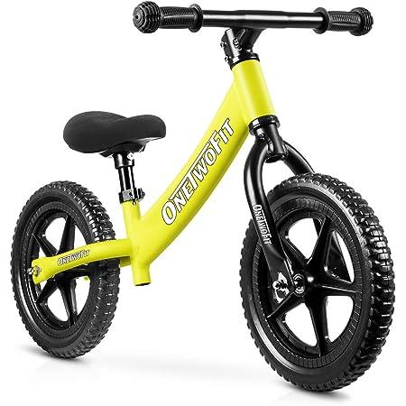 OneTwoFit べダルなし自転車 軽量 おしゃれ キッズバイク 子供 幼児用 バランスバイク 組み立て簡単 サドル高さ調整可 バランストレーニングバイク 子供用自転車 日本語説明書付き OT218