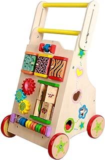 ベビーウォーカー 木製 手押し車 赤ちゃん つかまり立ち おもちゃ 高さ調節 歩行器 ベビー 屋内遊具 木のおもちゃ 出産祝い 誕生日プレゼント