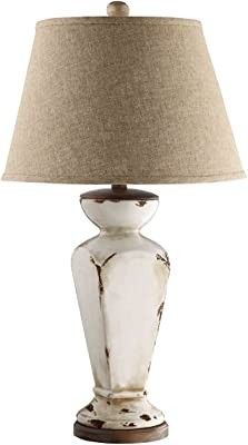 Stein World 90032 Classically Shaped Table Lamp Features Unique Ceramic Detailing