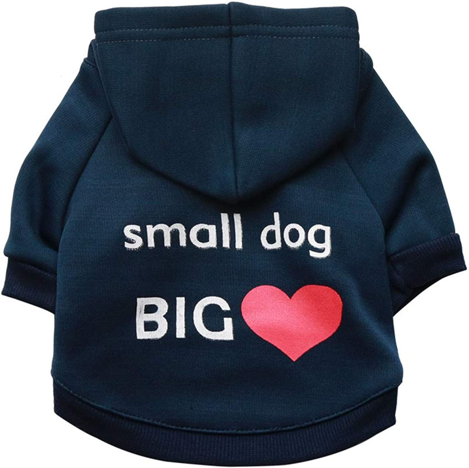 Huayue Pet Clothing Fleece Cloth Cap Pet TShirt Dog Hoodie Breathable and Comfortable pet Clothing (color   bluee, Size   XS)