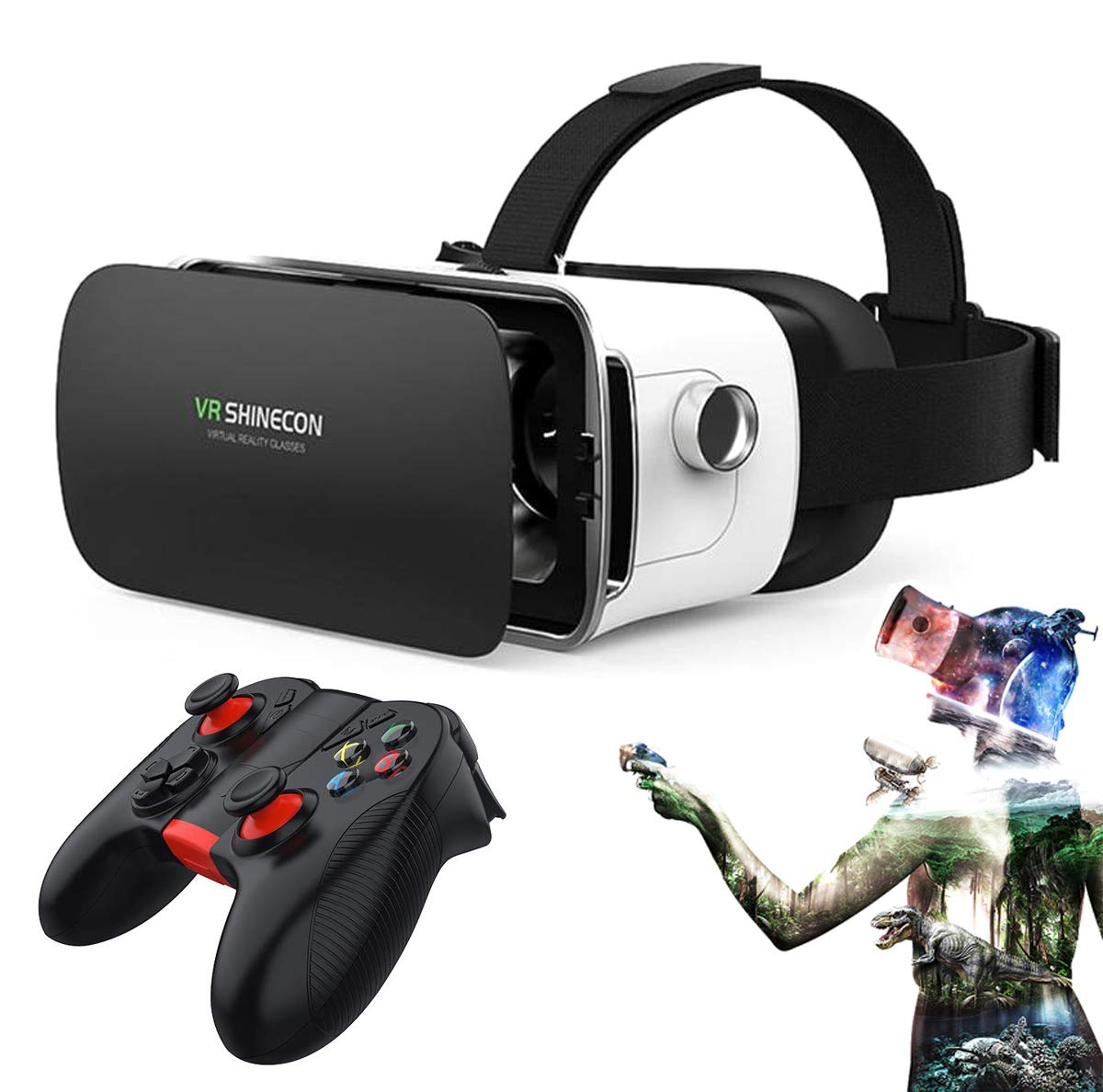 VR Virtual Reality Headset with Remote Controller, 3D VR Goggles Glasses Helmet for Home 3D Movies and Games Compatible with 4.0-6.3 Inches iOS Android Smartphone: Amazon.es: Electrónica